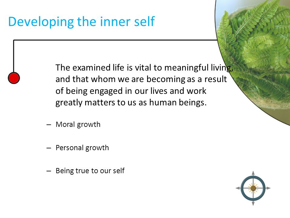 Developing the inner self