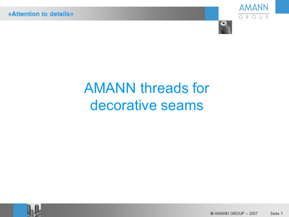 AMANN threads for decorative seams