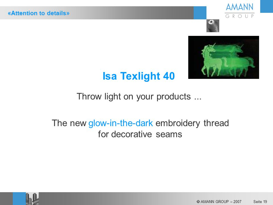 Isa Texlight 40 Throw light on your products ...
