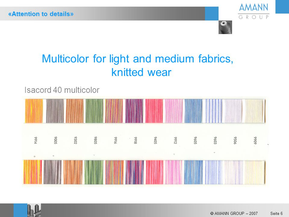 Multicolor for light and medium fabrics,