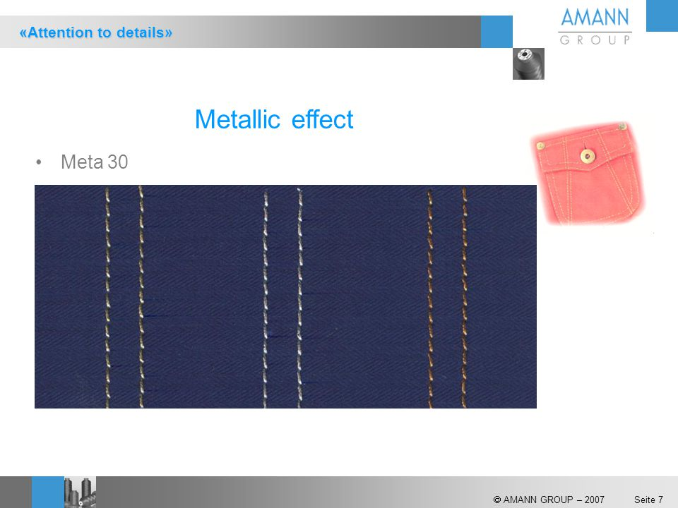 Metallic effect Meta 30 «Attention to details»