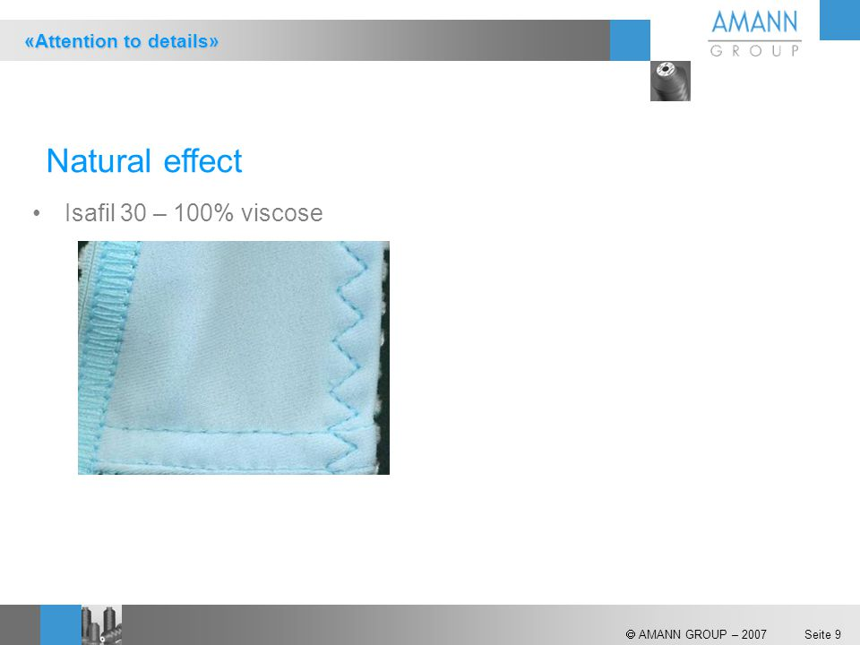 Natural effect Isafil 30 – 100% viscose «Attention to details»
