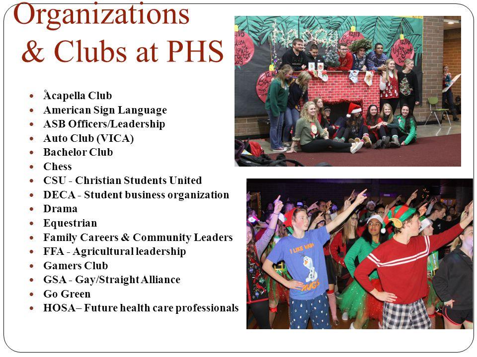 Organizations & Clubs at PHS
