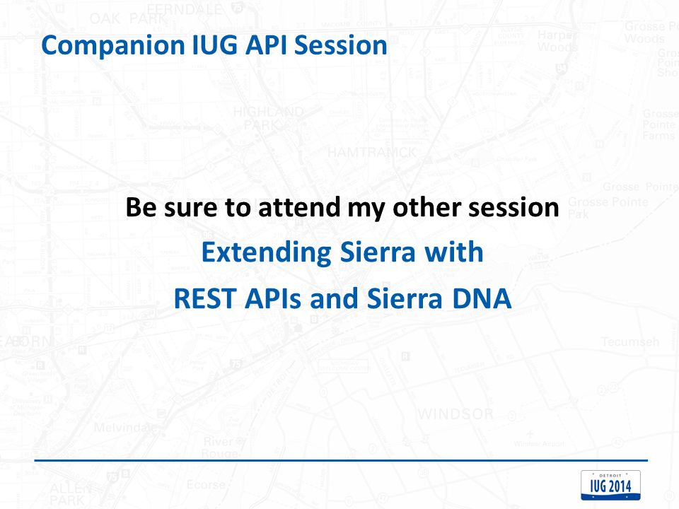 Companion IUG API Session