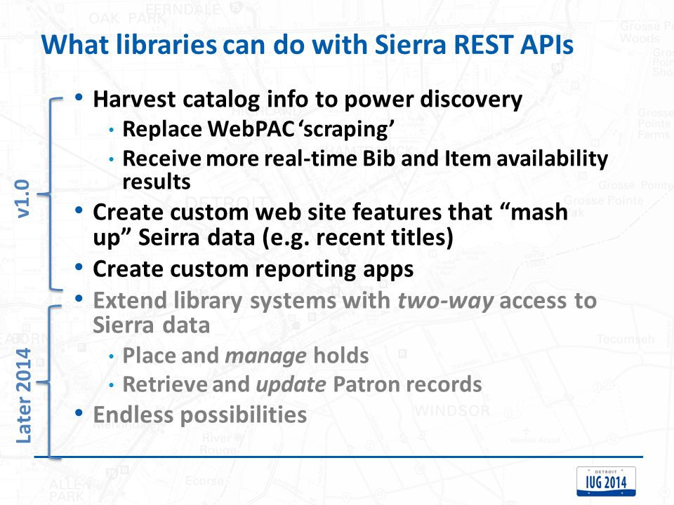 What libraries can do with Sierra REST APIs