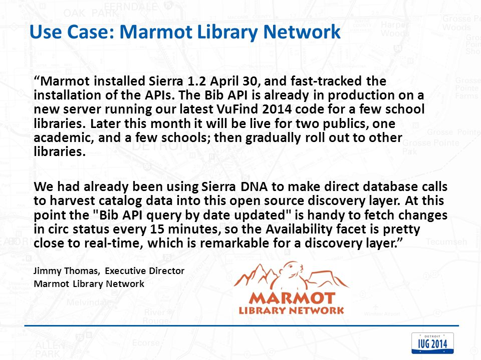 Use Case: Marmot Library Network