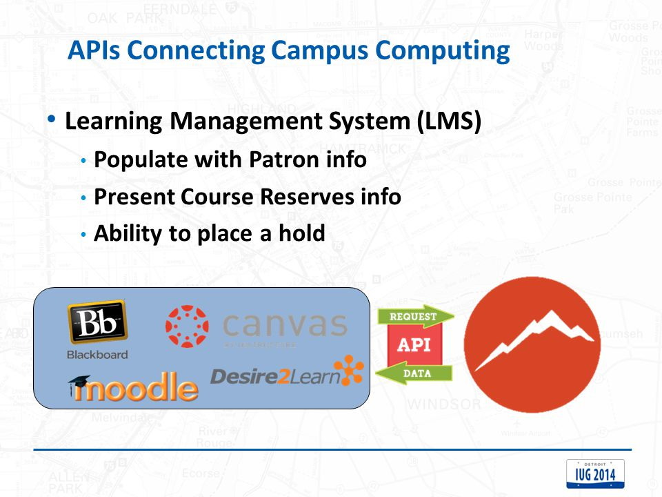 APIs Connecting Campus Computing