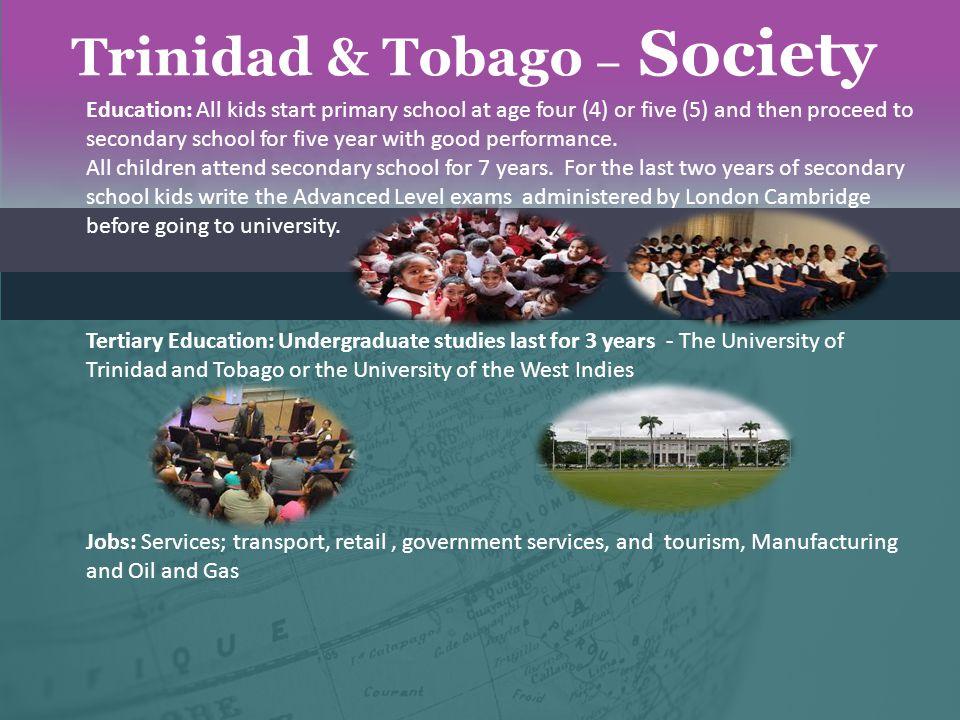 Trinidad & Tobago – Society