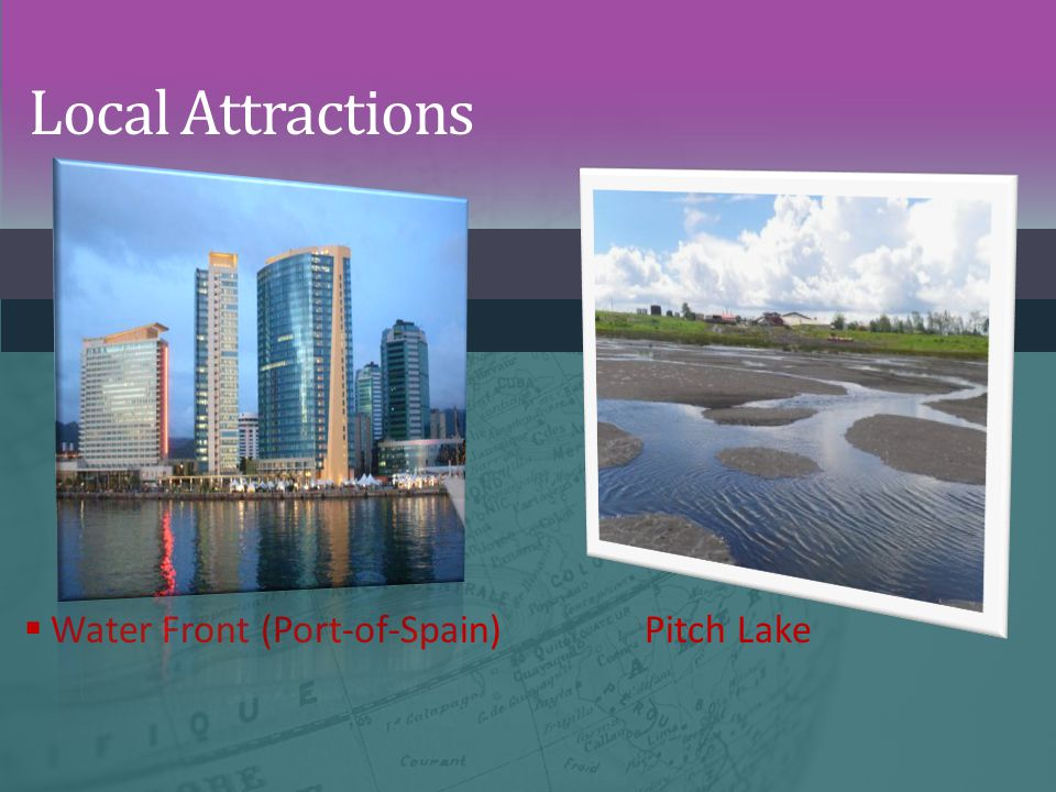 Local Attractions Water Front (Port-of-Spain) Pitch Lake