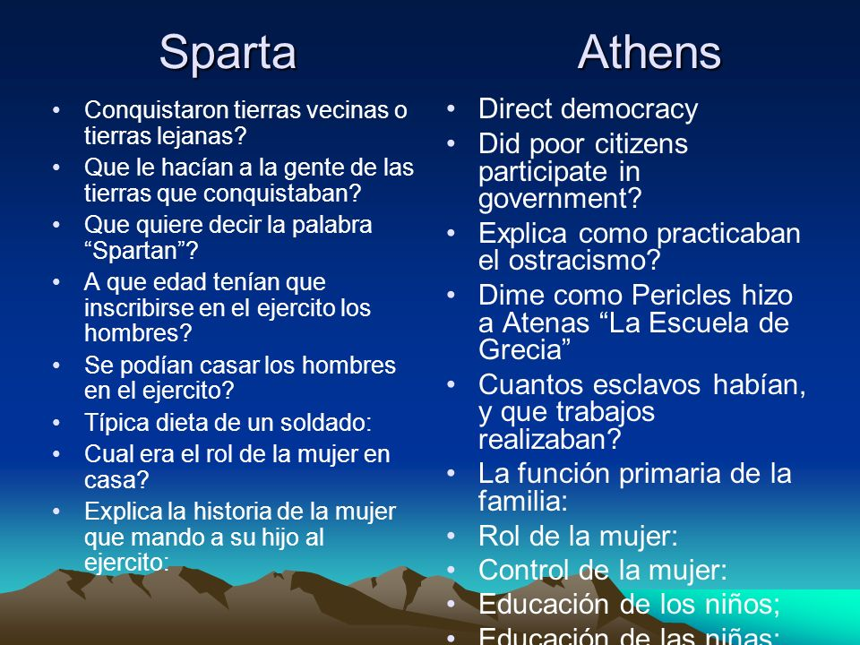 Sparta Athens Direct democracy