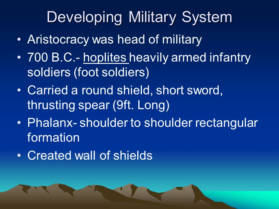 Developing Military System
