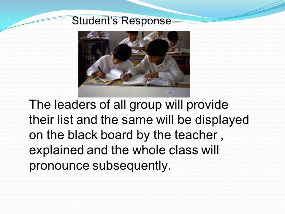Student's Response