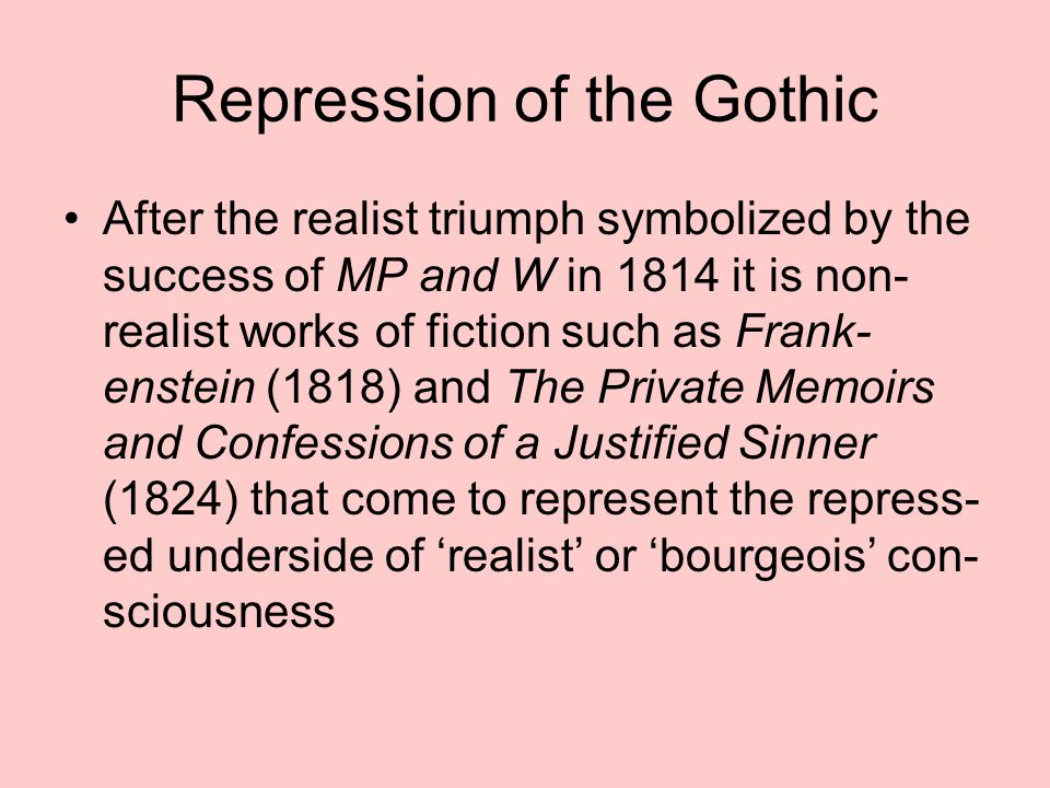 Repression of the Gothic
