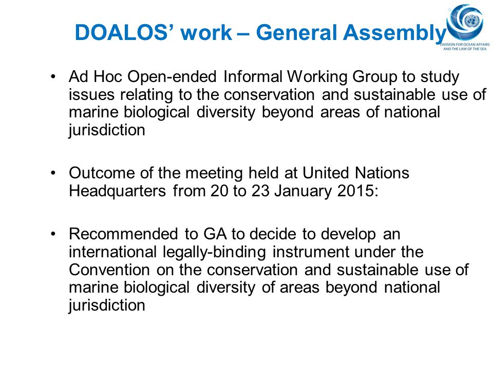 DOALOS' work – General Assembly