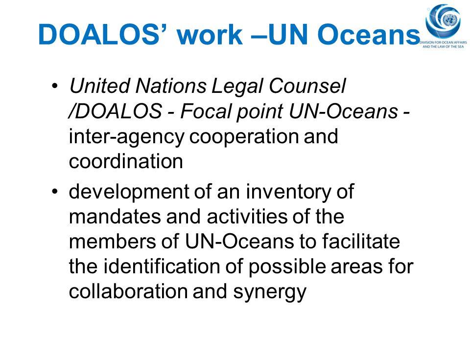 DOALOS' work –UN Oceans