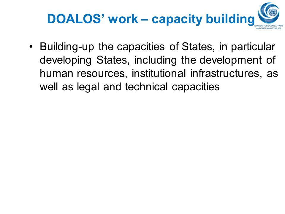 DOALOS' work – capacity building