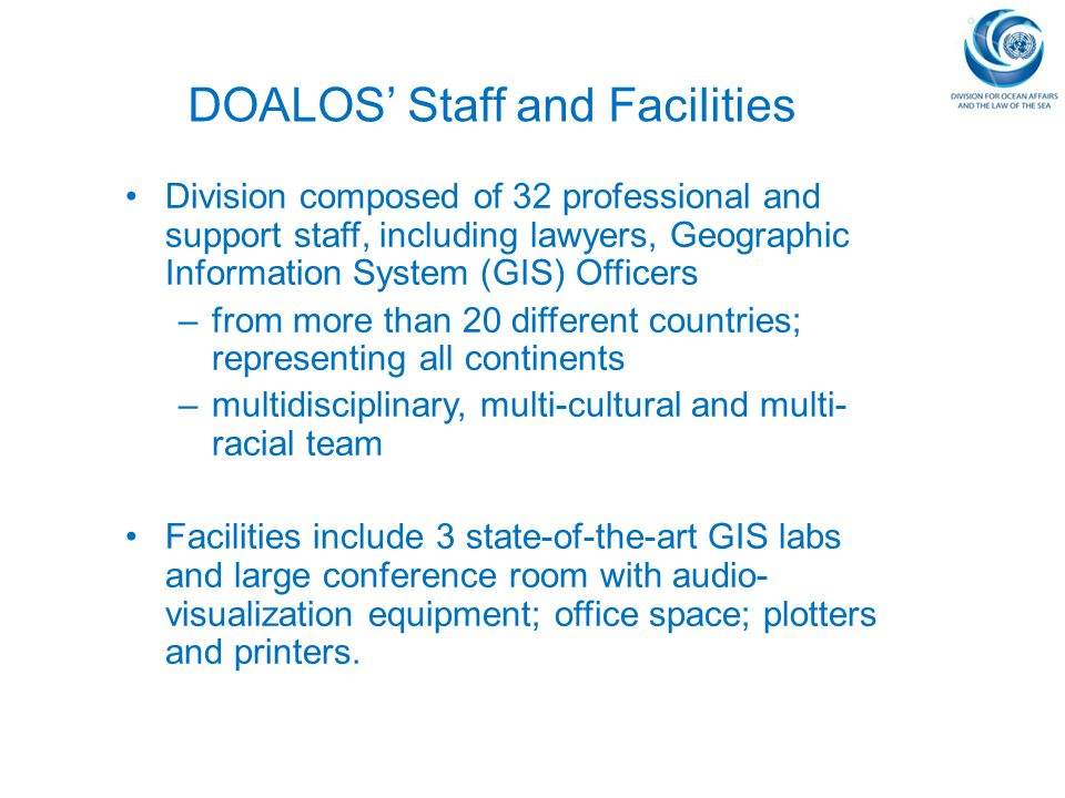DOALOS' Staff and Facilities