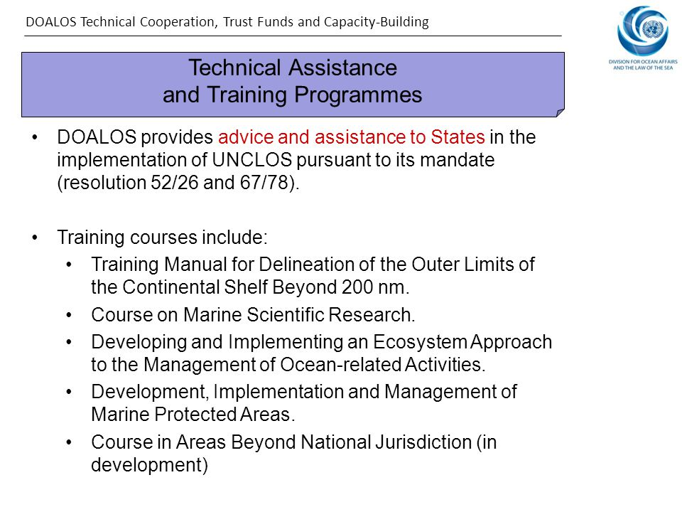 Technical Assistance and Training Programmes