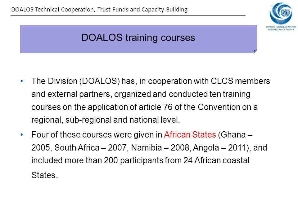 DOALOS training courses