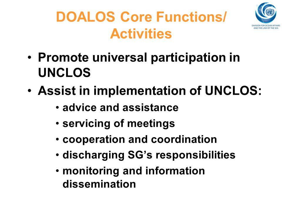 DOALOS Core Functions/ Activities