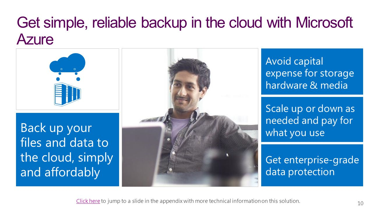 Get simple, reliable backup in the cloud with Microsoft Azure