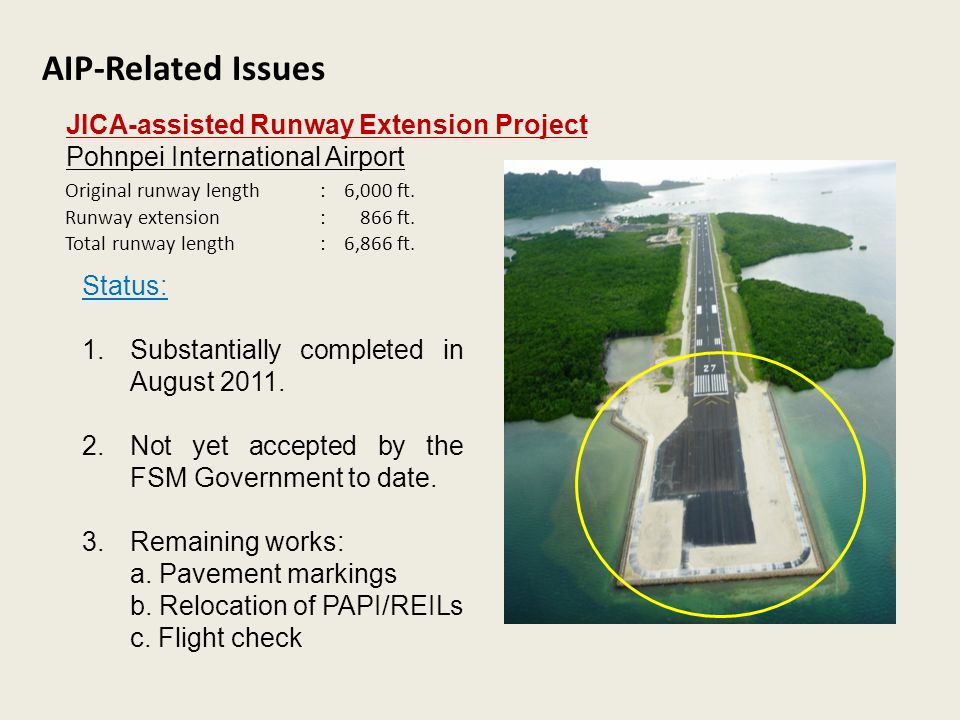 AIP-Related Issues JICA-assisted Runway Extension Project