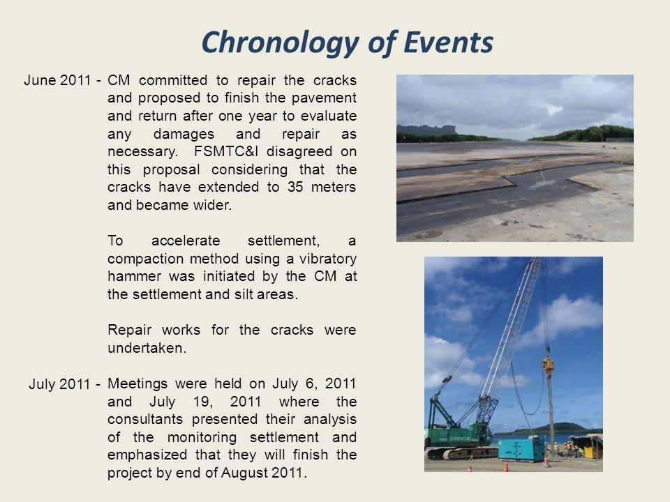 Chronology of Events June 2011 -