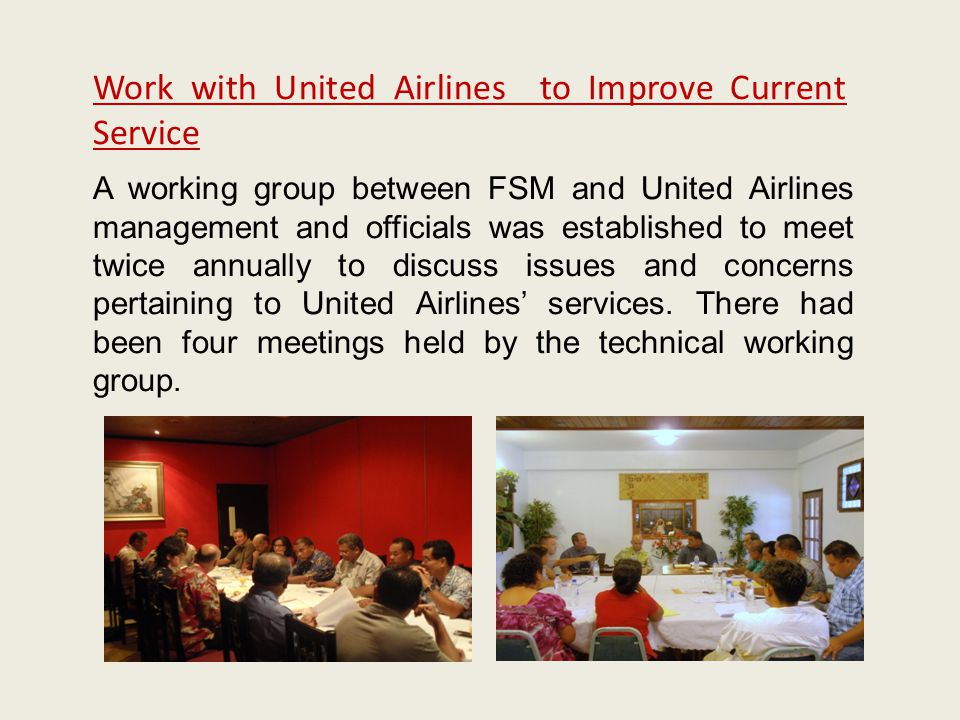 Work with United Airlines to Improve Current Service