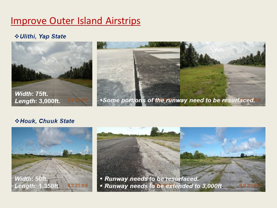 Improve Outer Island Airstrips