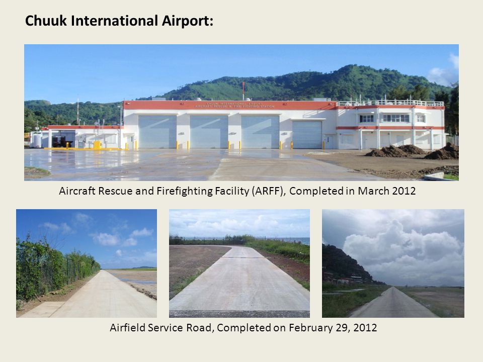 Airfield Service Road, Completed on February 29, 2012