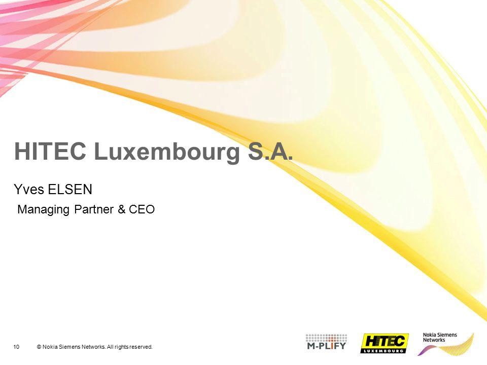 Yves ELSEN Managing Partner & CEO