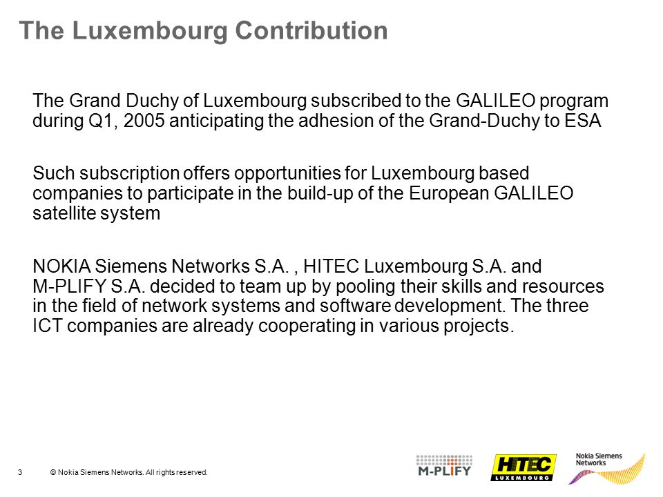 The Luxembourg Contribution