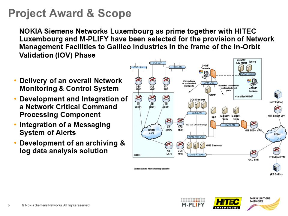 Project Award & Scope