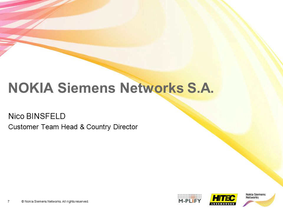 NOKIA Siemens Networks S.A.