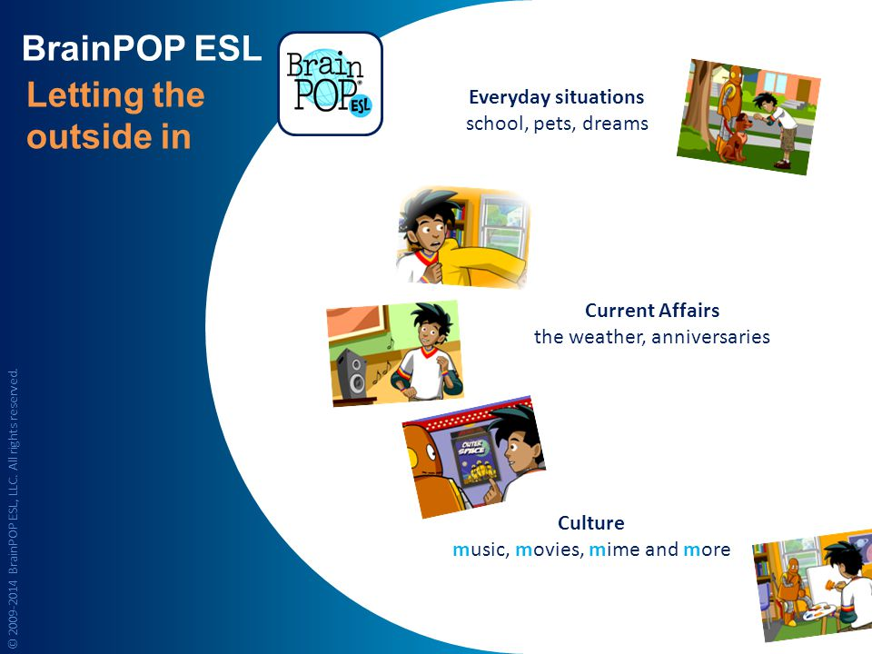BrainPOP ESL Letting the outside in Everyday situations