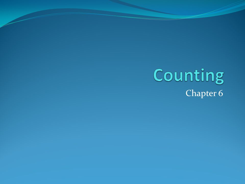 Counting Chapter 6