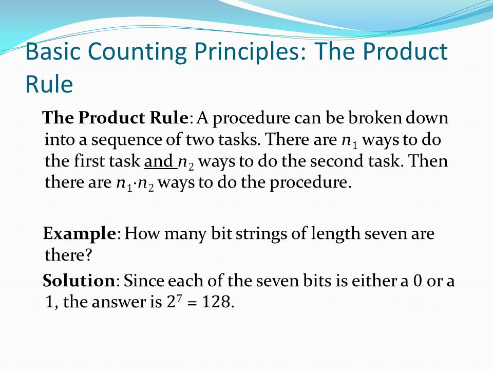 Basic Counting Principles: The Product Rule