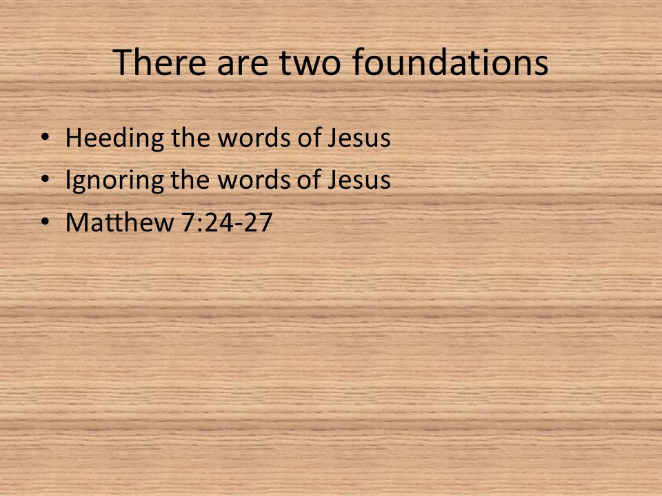 There are two foundations