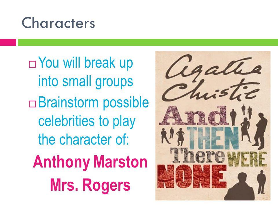 Anthony Marston Mrs. Rogers