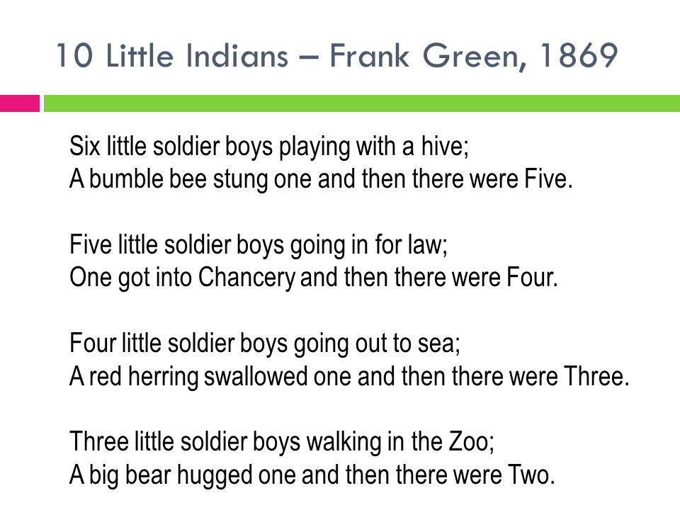 10 Little Indians – Frank Green, 1869