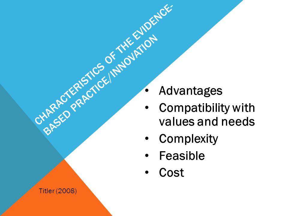 Characteristics of the Evidence-based practice/Innovation