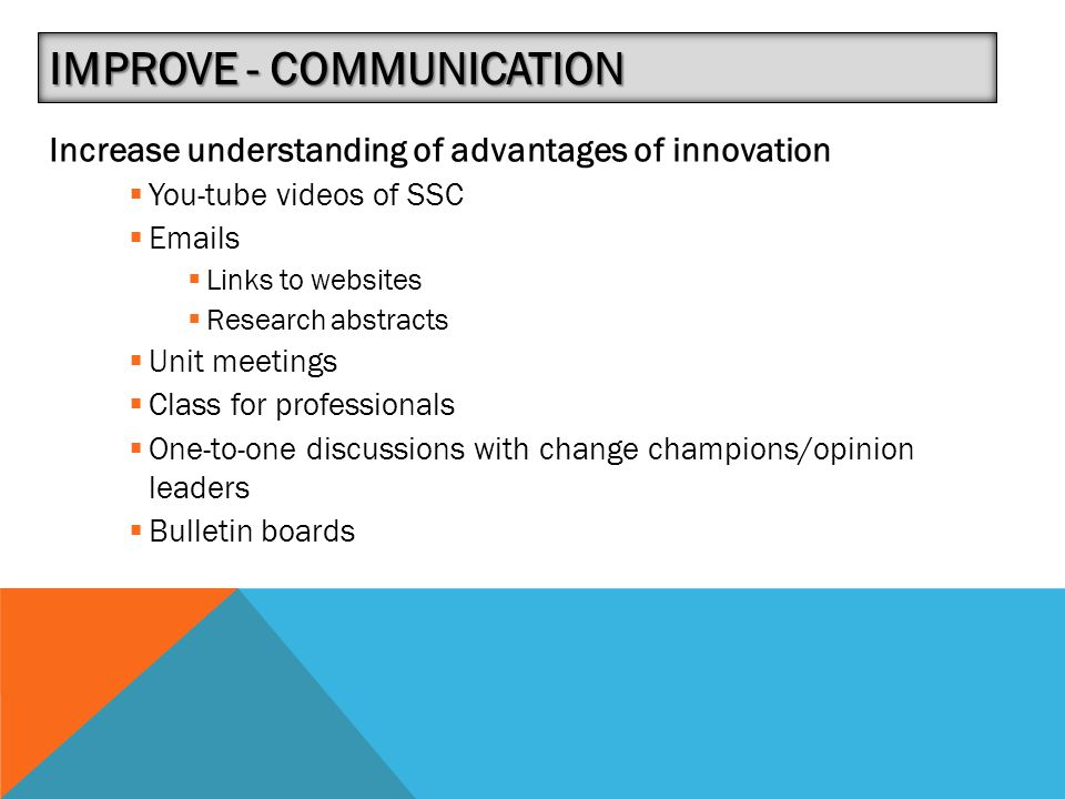 Improve - Communication