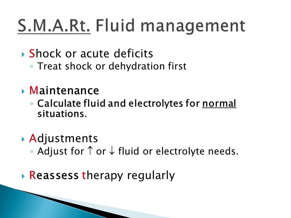 S.M.A.Rt. Fluid management