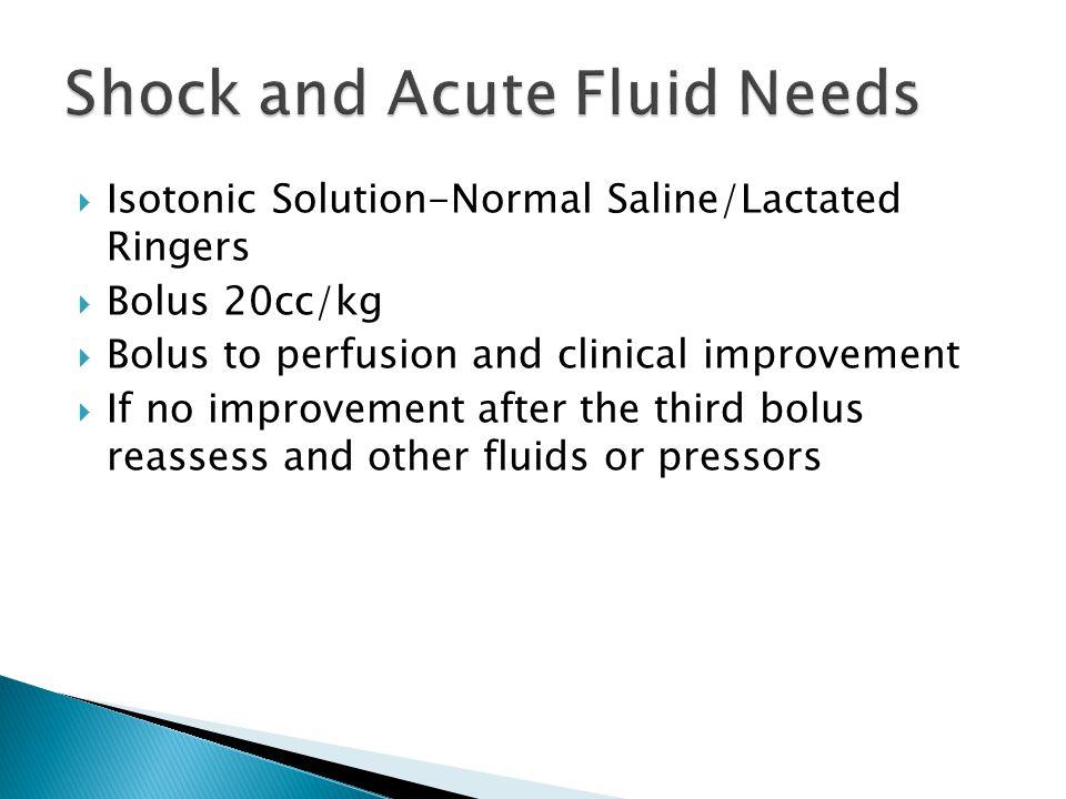 Shock and Acute Fluid Needs
