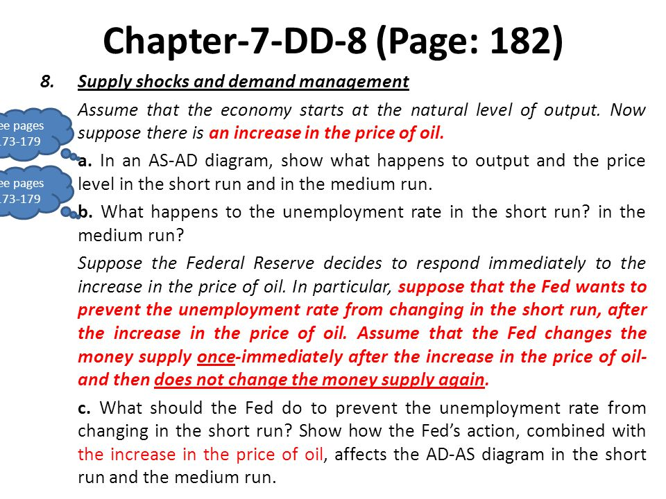Chapter-7-DD-8 (Page: 182) Supply shocks and demand management