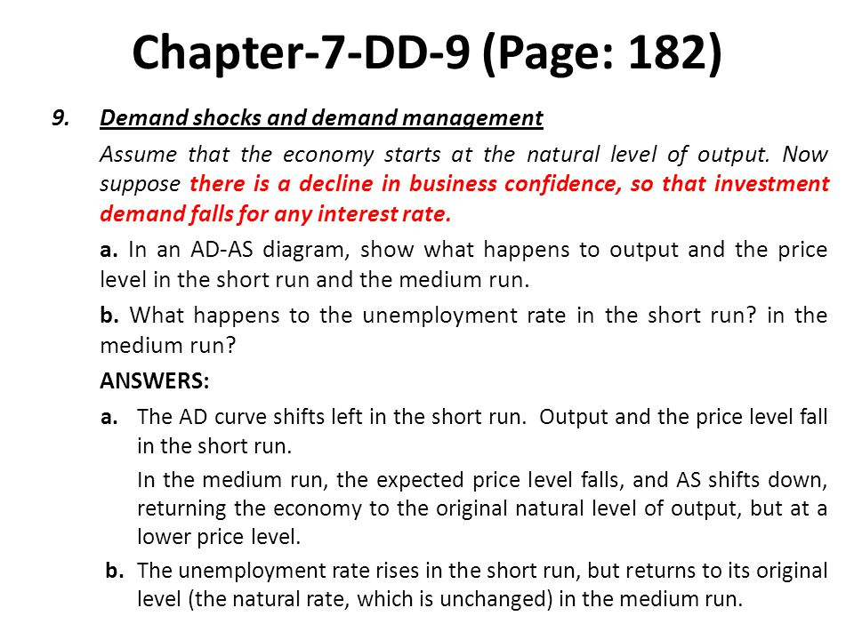 Chapter-7-DD-9 (Page: 182) Demand shocks and demand management