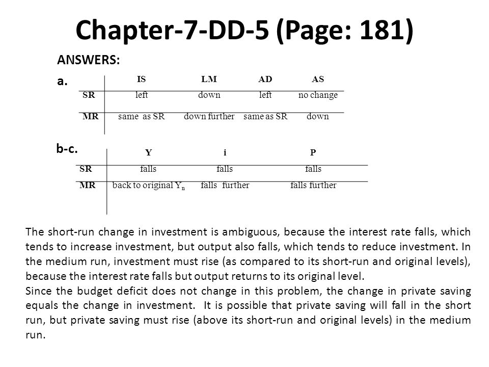 Chapter-7-DD-5 (Page: 181) ANSWERS: a. b-c.