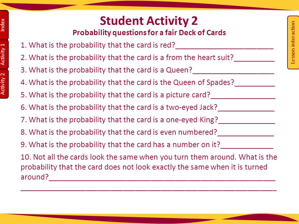 Probability questions for a fair Deck of Cards