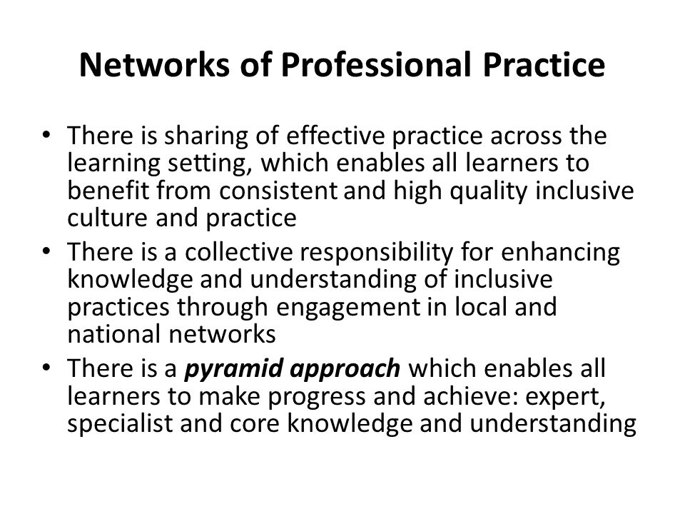 Networks of Professional Practice