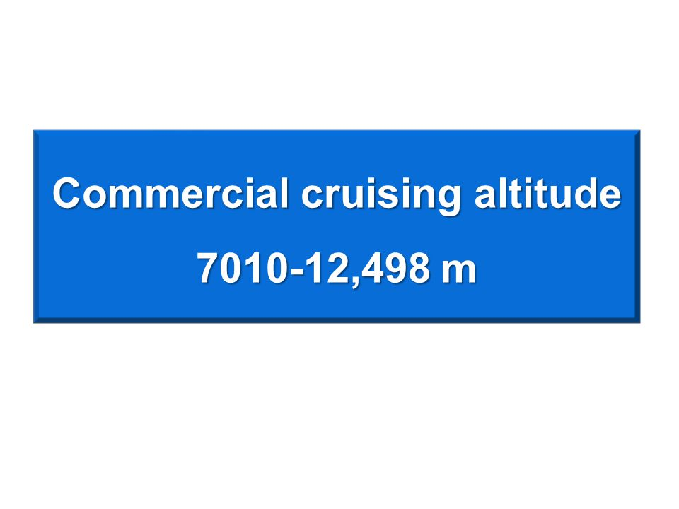 Commercial cruising altitude 7010-12,498 m